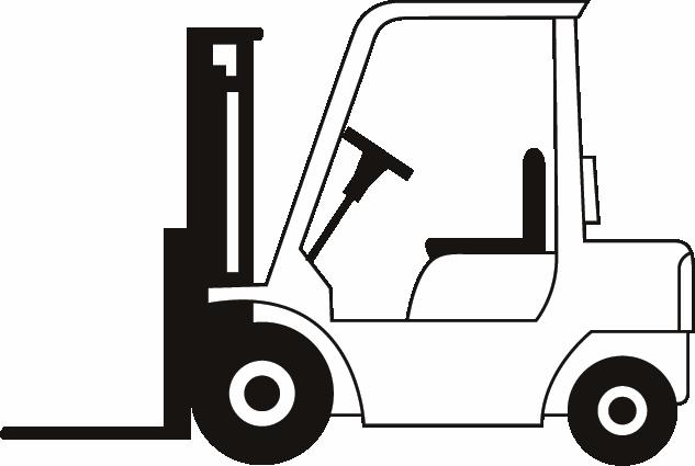 Forklift clipart #14