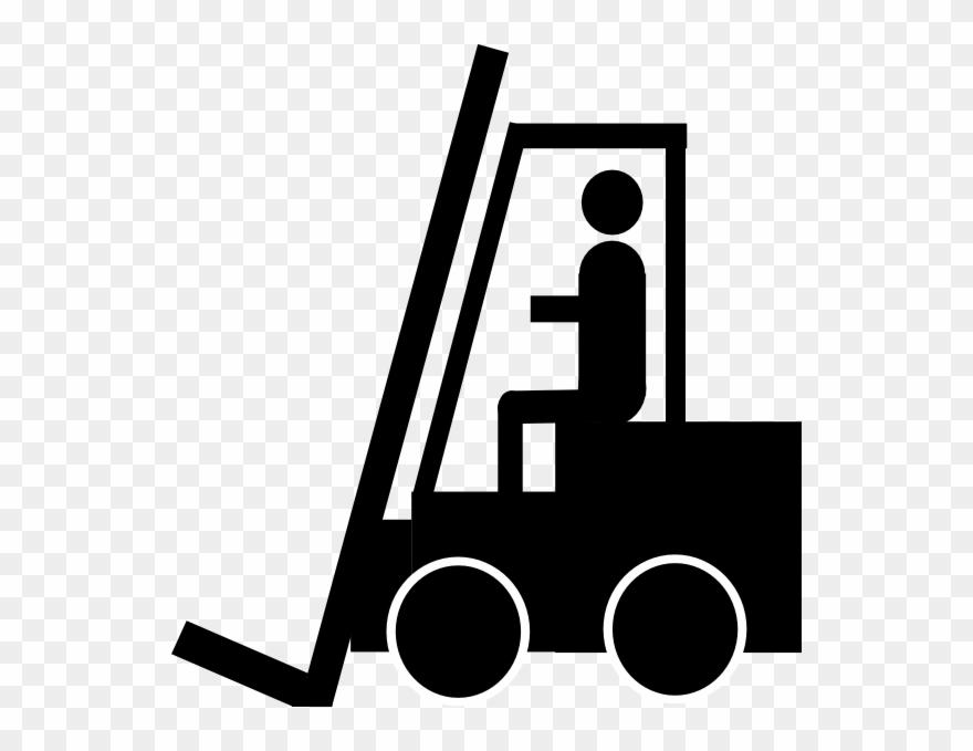 Forklift Clipart Black White.