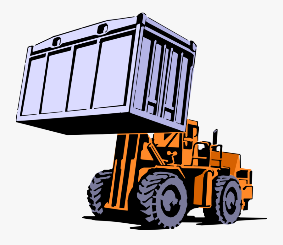 Vector Illustration Of Industrial Warehouseforklift.