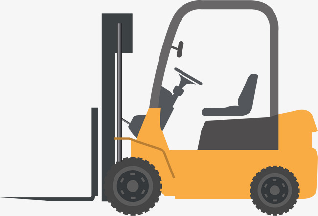 Yellow Cartoon Forklift, Cartoon Clipart #153325.