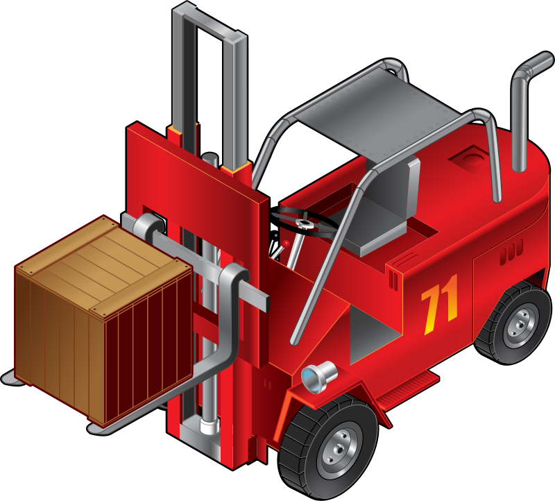 Free Clipart: Forklift Truck.