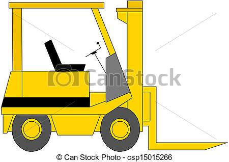 Fork lift truck Clipart Vector and Illustration. 562 Fork lift.