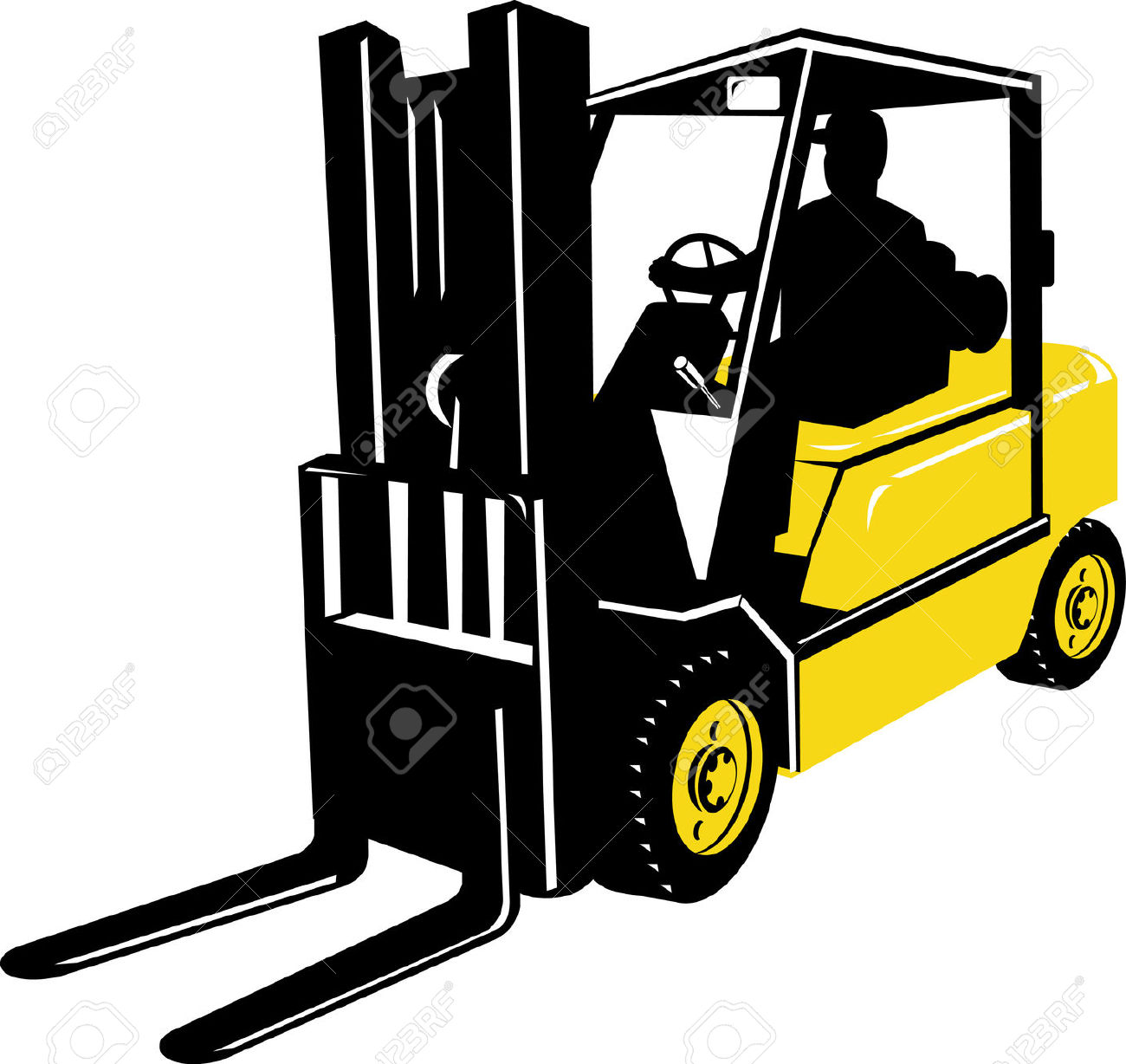 Forklift Truck Royalty Free Cliparts, Vectors, And Stock.