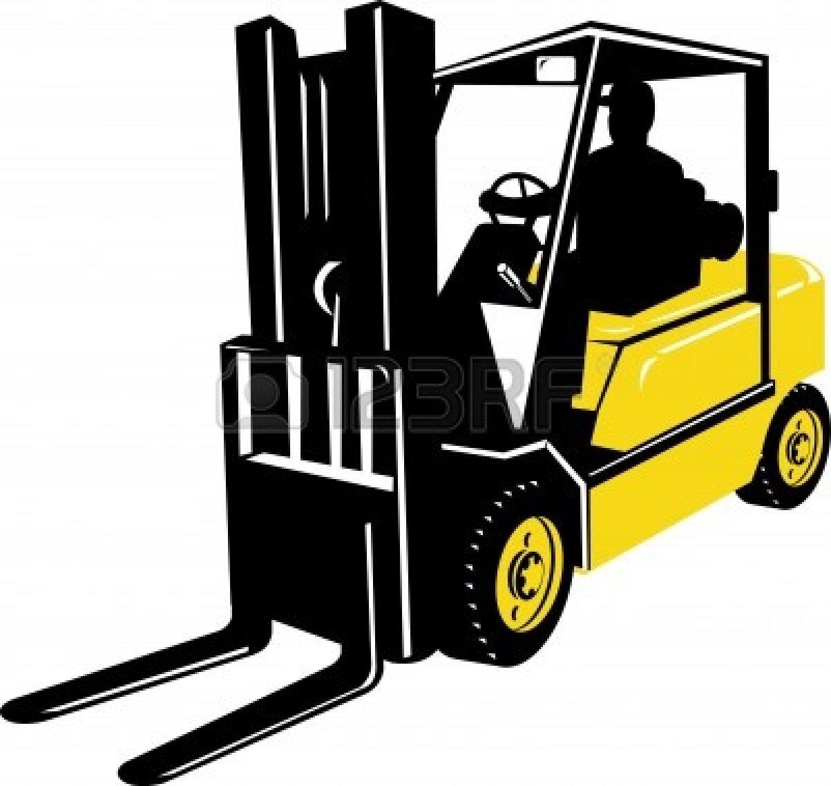 Forklift Silhouette Clip Art.