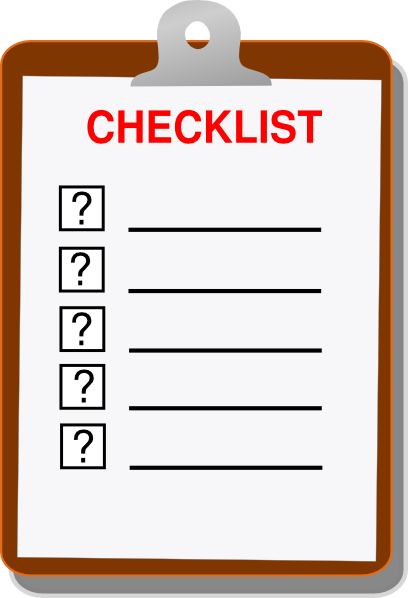 Checklist Form Clip Art at Clker.com.