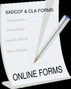 Online Form Clipart.