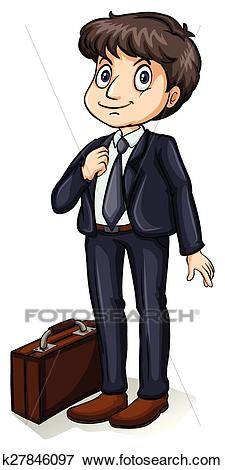 A formal man Clip Art.