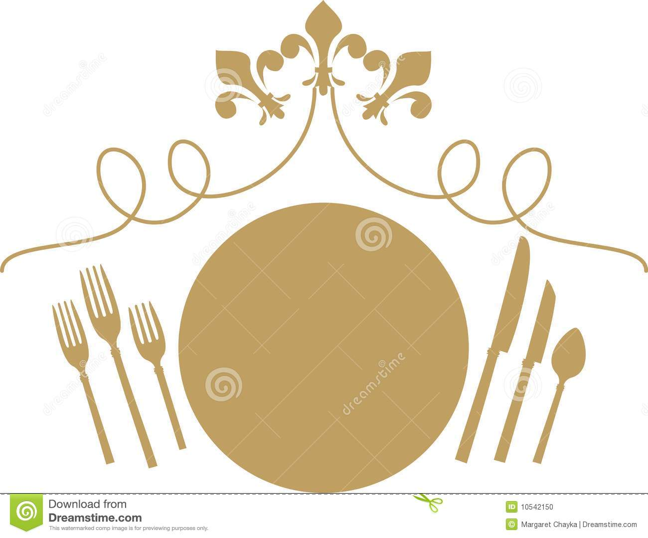 Formal dinner clipart.
