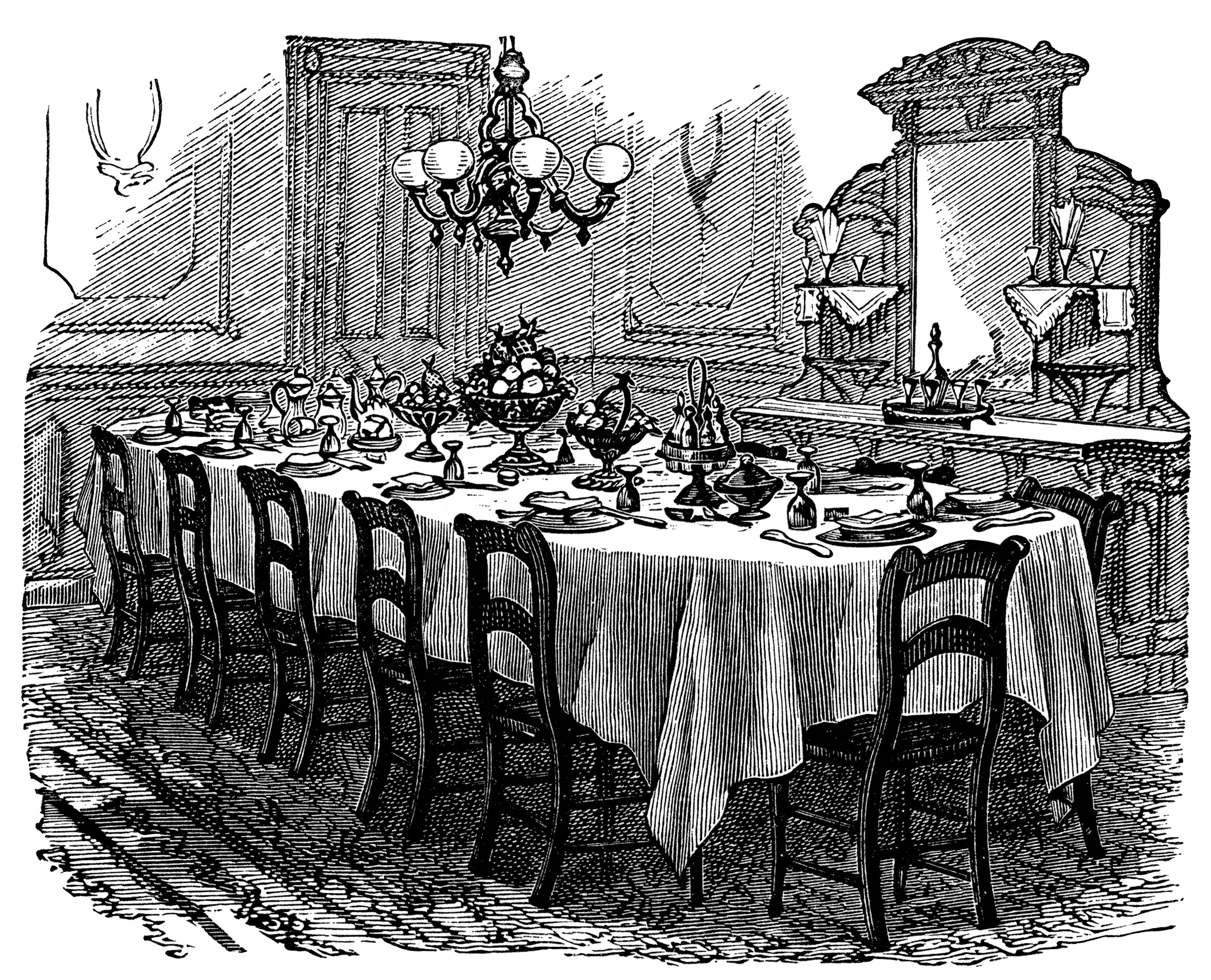 Free Formal Dinner Clipart.