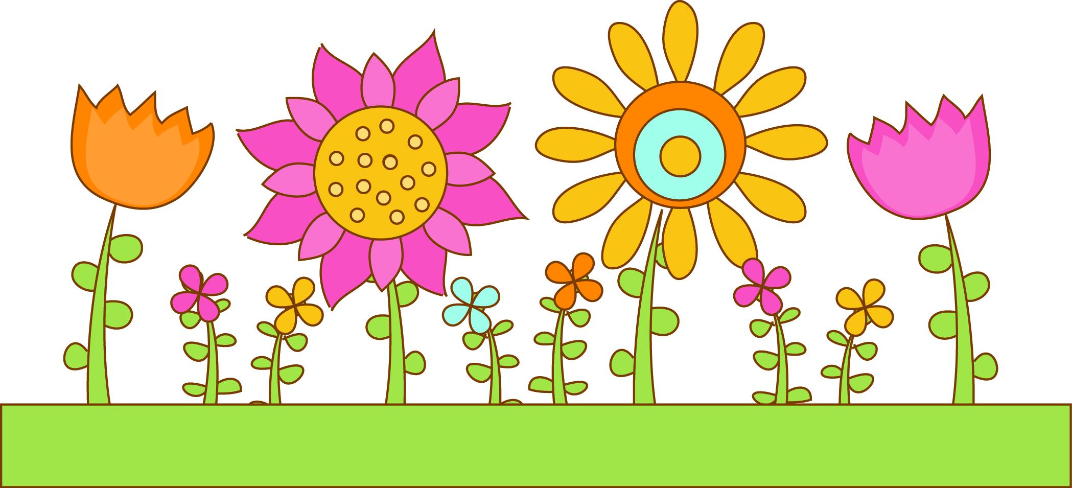 Flower garden clipart free.