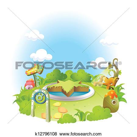 Clip Art of Formal garden k12796108.