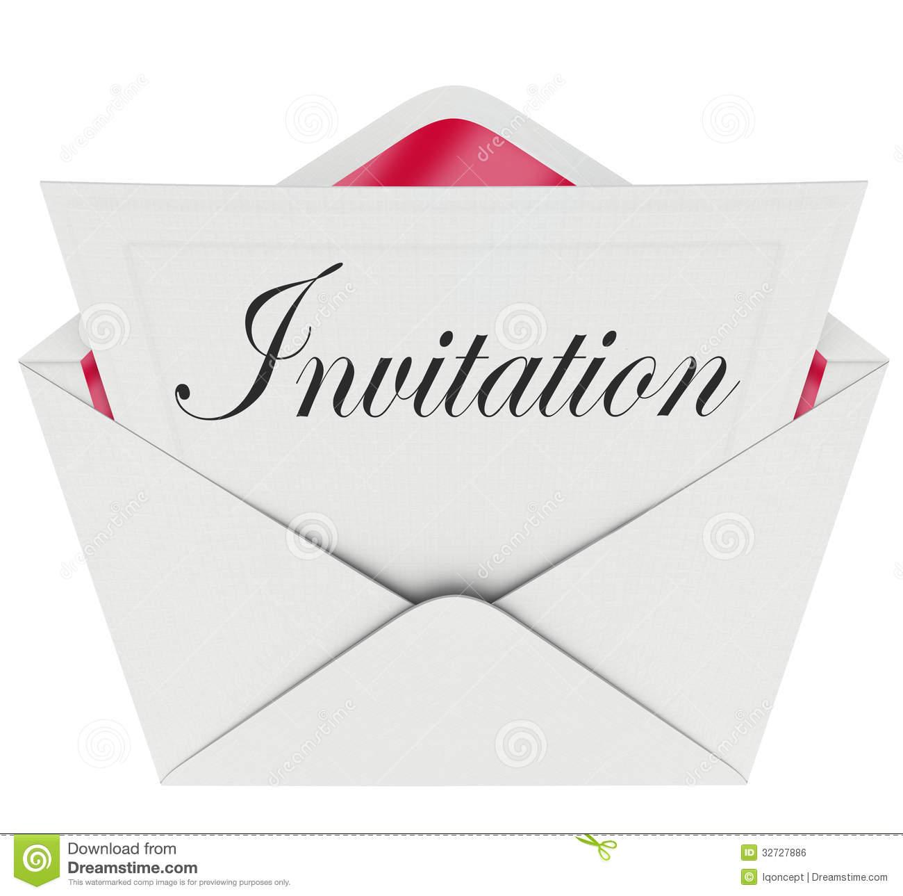 Formal Invitation Clipart.