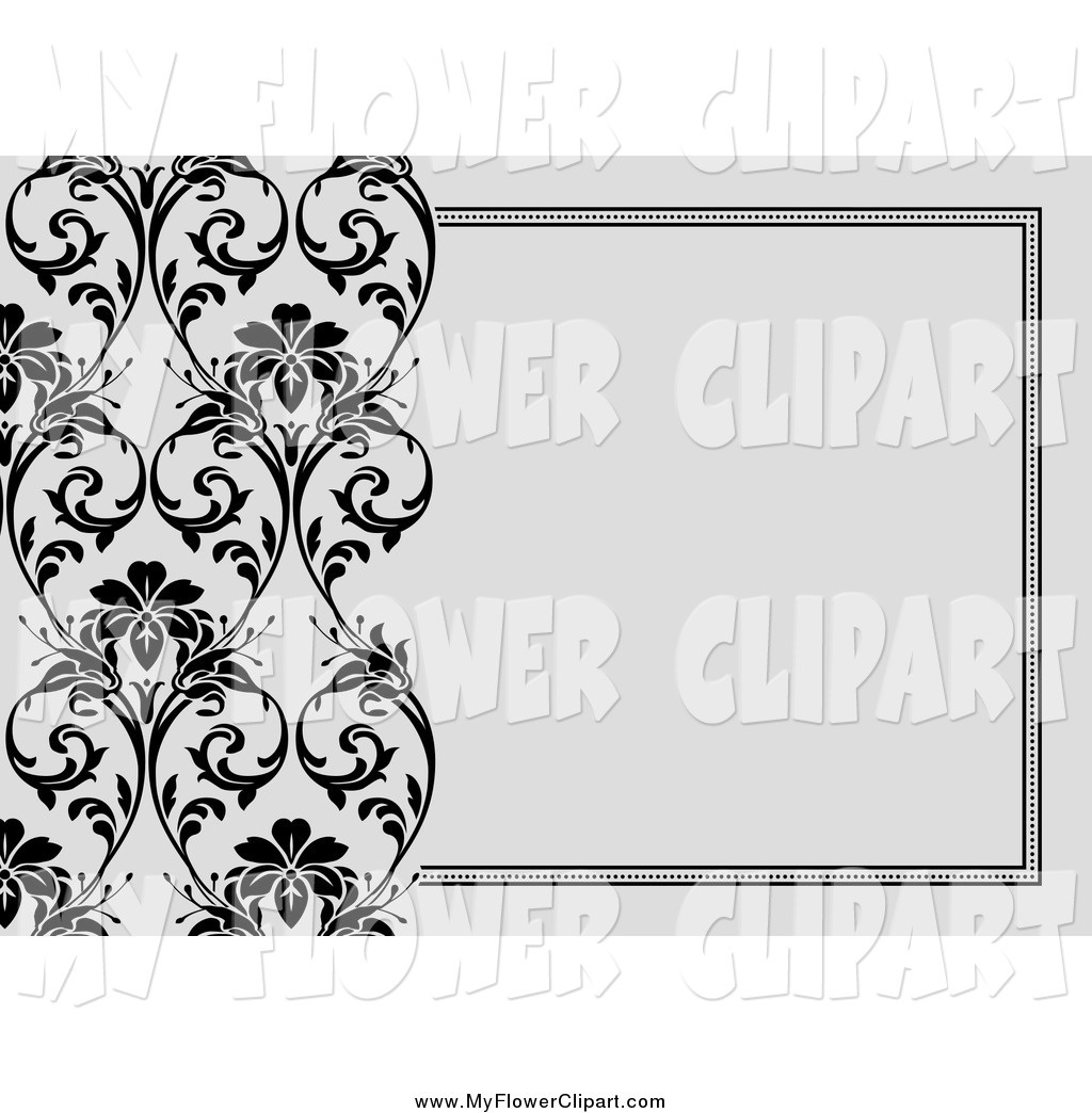 Royalty Free Stock Flower Designs of Invitations.