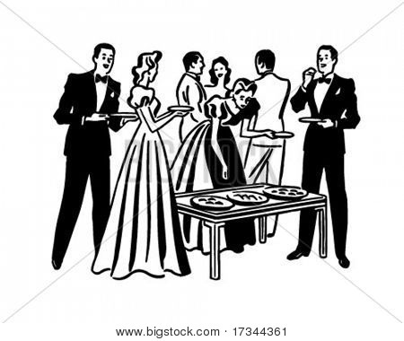 Cocktail party clip art.