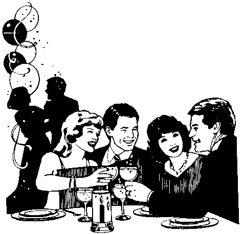 Formal Party Clip Art.