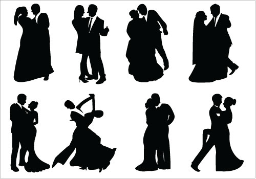 Formal Couples Clipart.