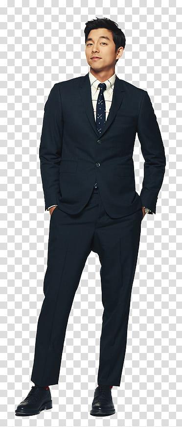 BIG Dorama, man wearing black formal suit transparent.