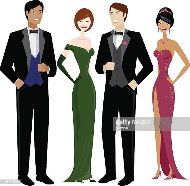 60 Top Evening Wear Stock Illustrations, Clip art, Cartoons, & Icons.
