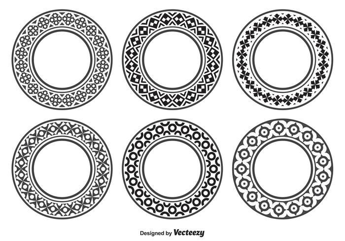 Formas circulares decorativas.