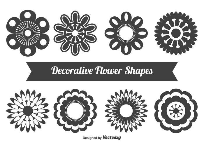 Formas florais decorativas.