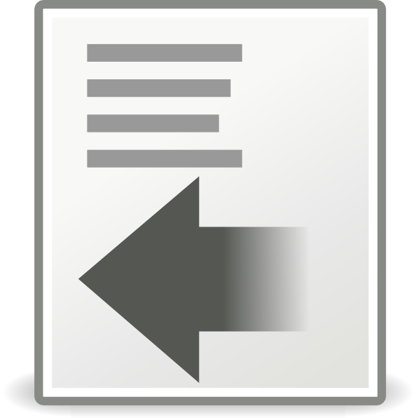 Format Indent Less Clip art.