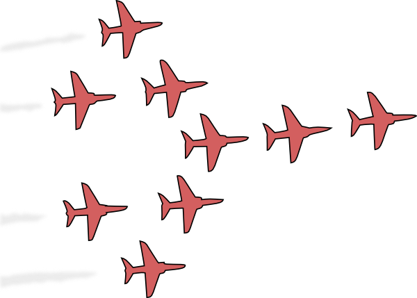 Airplanes Flight Formation Clip Art at Clker.com.