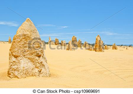 Stock Photographs of Pinnacles, Western Australia, a famous stone.