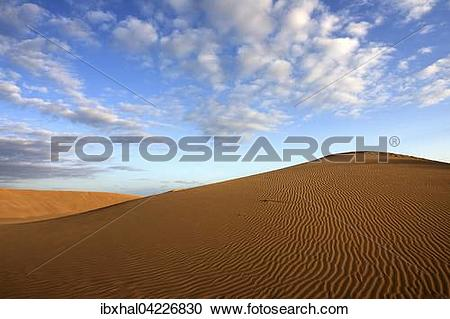 Stock Photography of Dunes, sand dunes of Maspalomas, cloud.