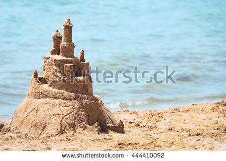 Sand Castle Stock Photos, Royalty.