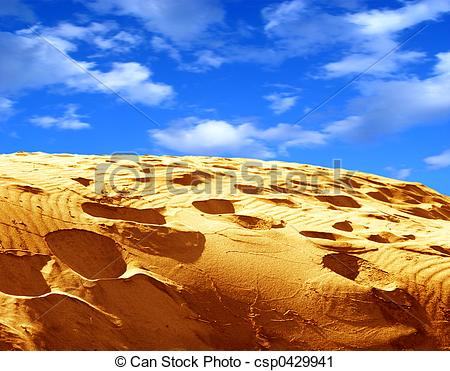 Clipart of Sand and sky.
