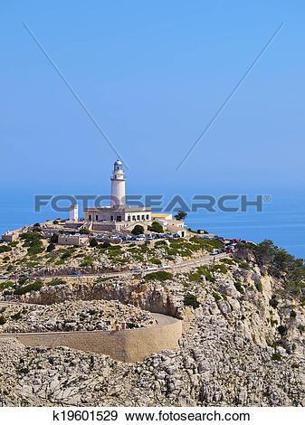 Stock Photograph of Formentor Lighthouse on Majorca k19601529.