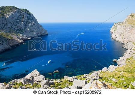 Picture of Beautiful Beach Bay Called Cala Figuera on Cape.