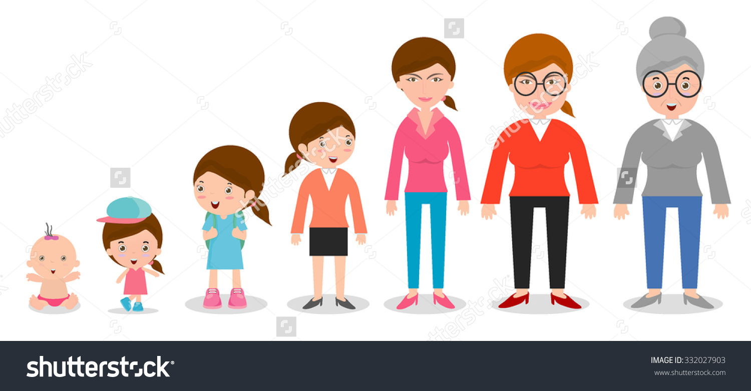 Different Age Groups Clipart.