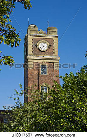 Picture of England, North Yorkshire, York. The clock tower of the.