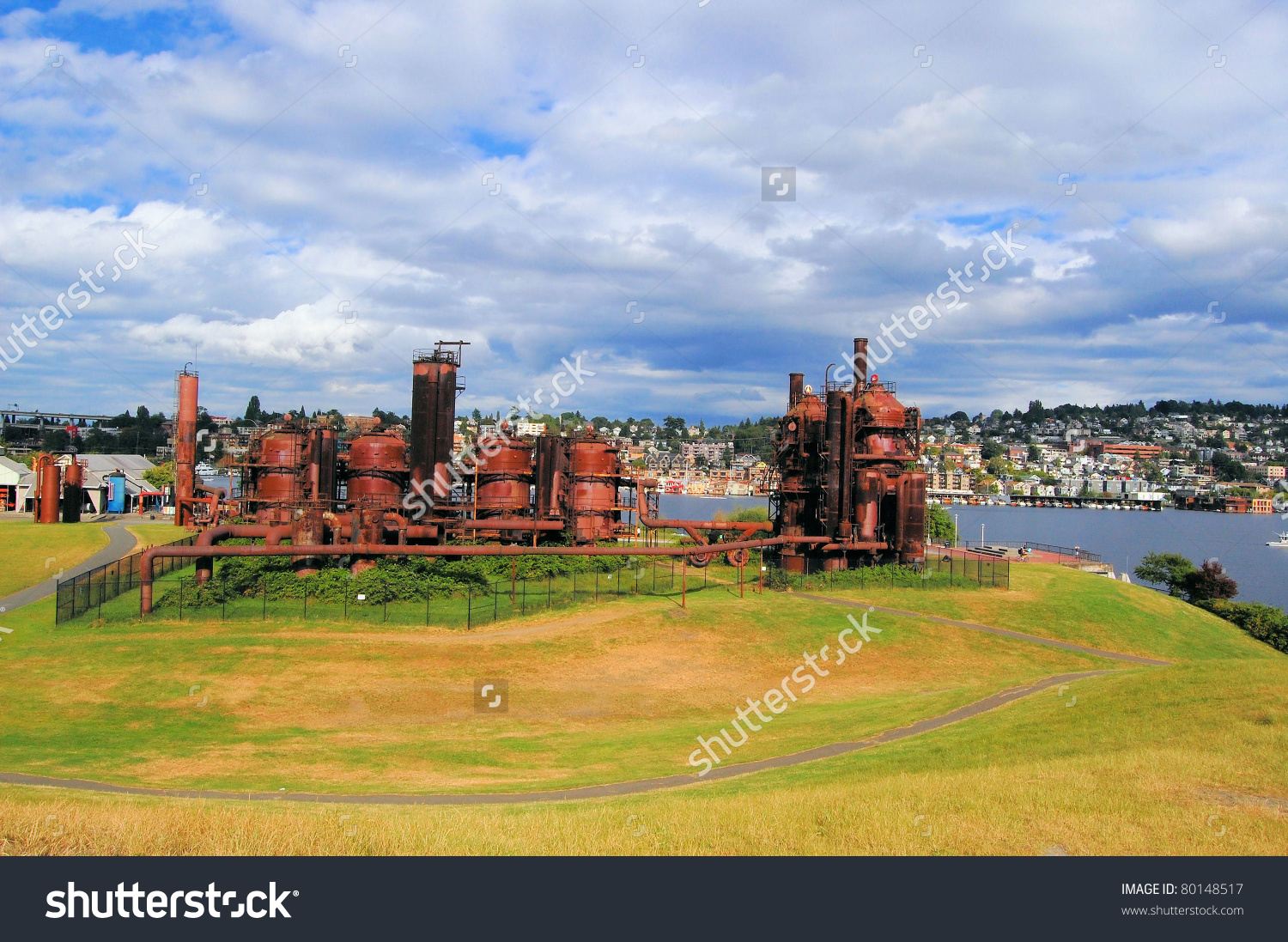 Gas Works Park Cloudy Day Seattle Stock Photo 80148517.
