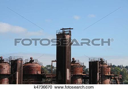 Stock Photography of Seattle Washington Gasworks Park k4736670.