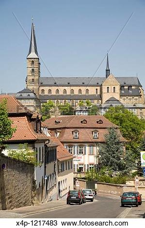 Stock Photo of At the top of Michaelsberg is the Benedictine.