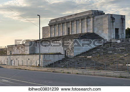 "Stock Photograph of ""Zeppelin Grandstand, remains, Zeppelin Field."