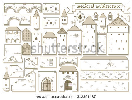 Vector Illustration Graphic Elements Parts Middle Stock Vector.