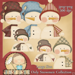 Snowman 6 By Clipart 4 Resale (formerly Whimsy Primsy).
