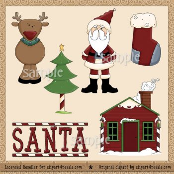 Santa 6 by Clipart 4 Resale (Formerly Whimsy Primsy).