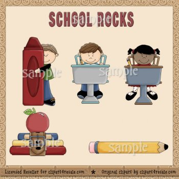 School Rocks by Clipart 4 Resale (formerly Whimsy Primsy).