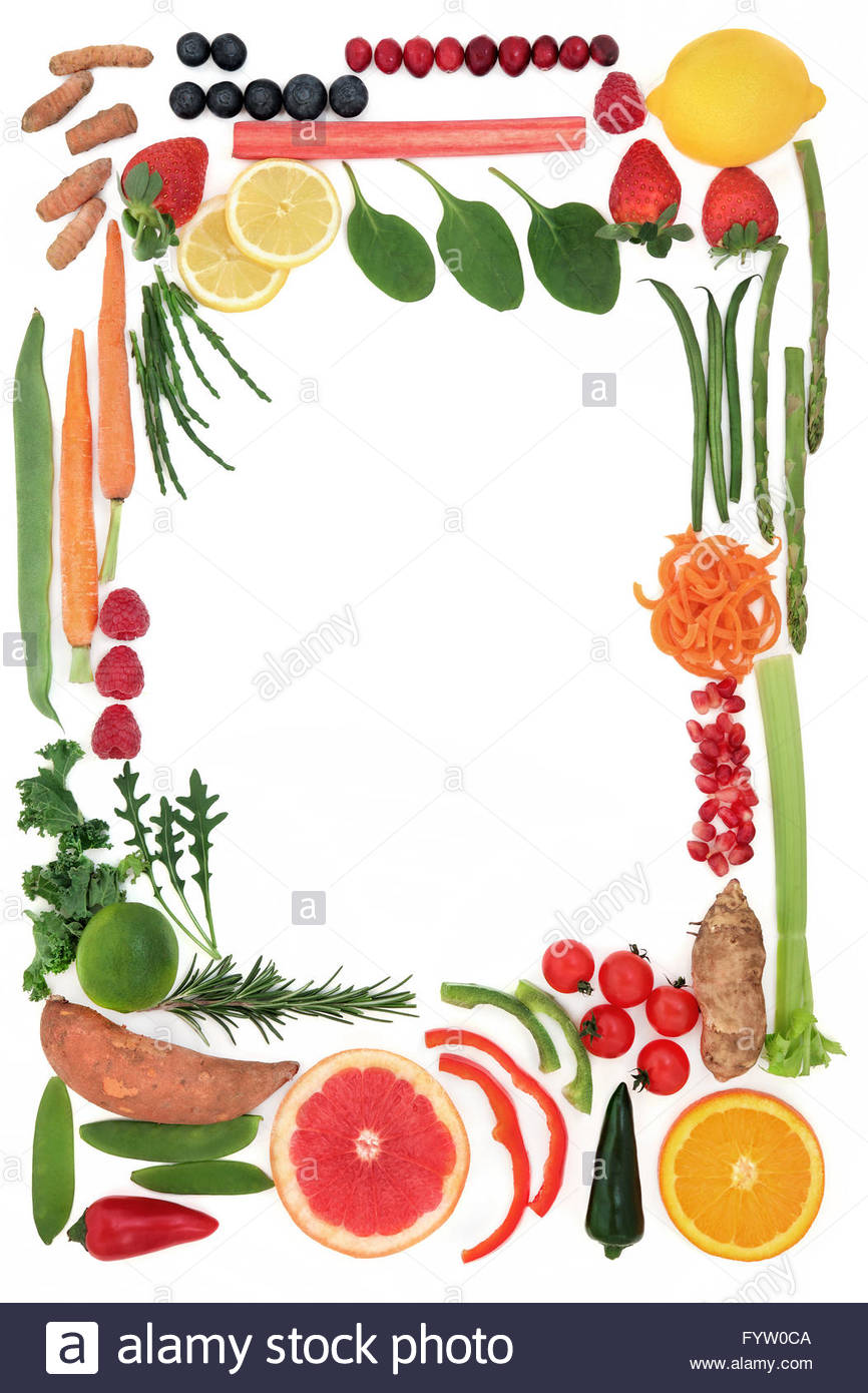 Paleo Diet Health Food Of Fruit And Vegetables Forming An Abstract.
