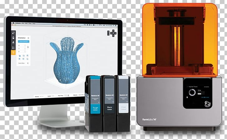 Formlabs 3D Printing Stereolithography Printer PNG, Clipart.