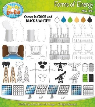 Forms of Energy Clip Art Set — Over 40 Graphics.