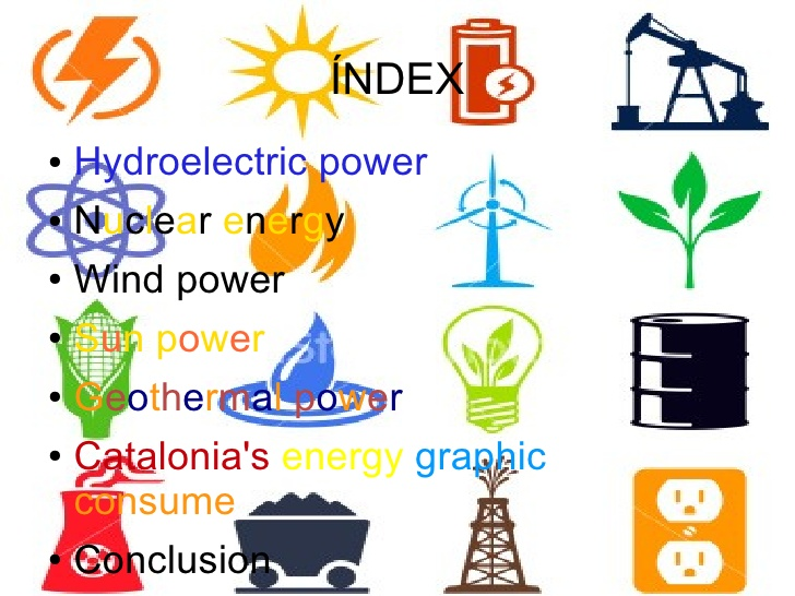 Alternative forms of energy.