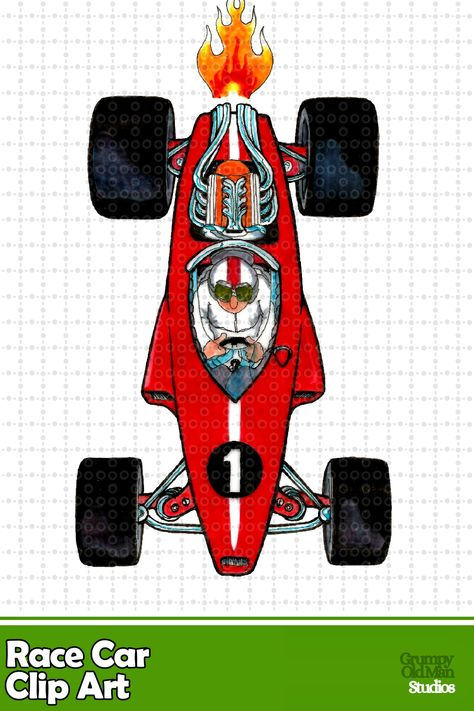 Race car clip art.