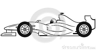 Formula 1 Racing Car Royalty Free Stock Image.