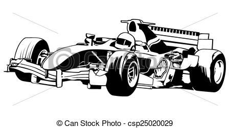 Formula 1 Race Clipart.