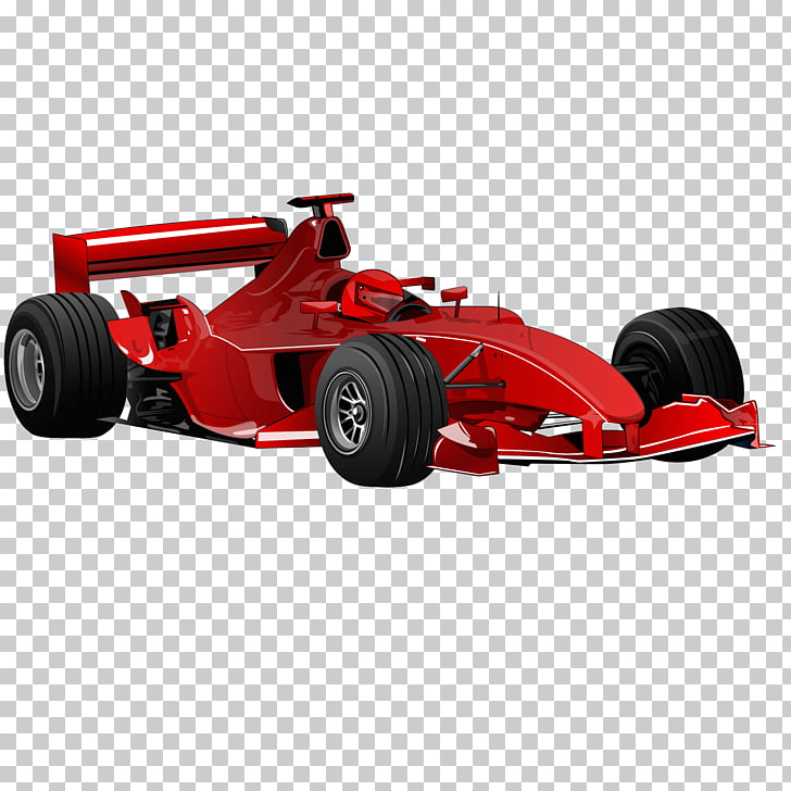 Formula One car , car flow red sports car PNG clipart.